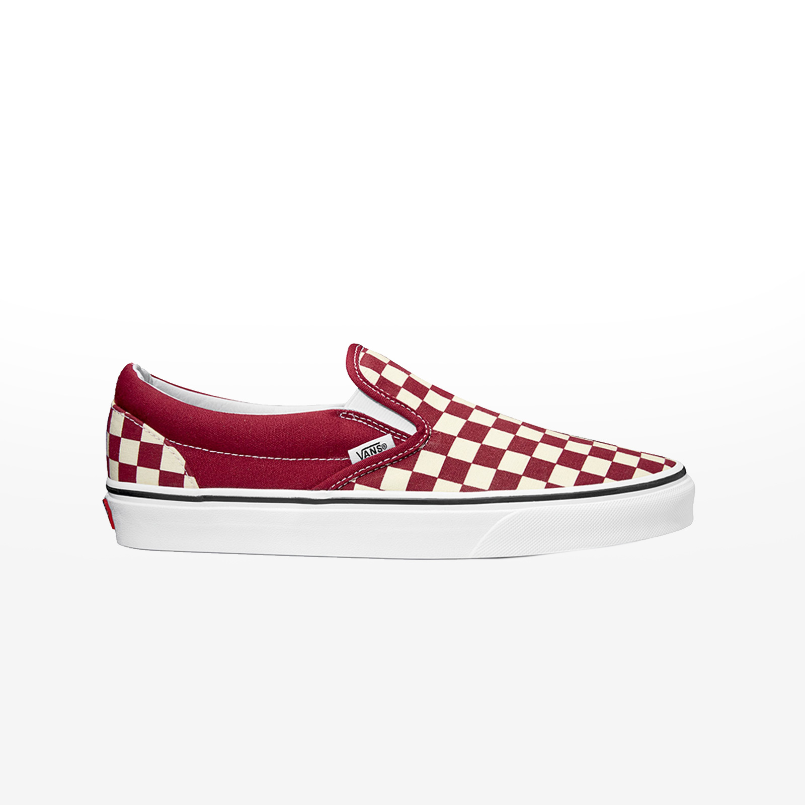 ce793ae0f4d Sportcafe Vans – UA CLASSIC SLIP-ON (CHECKERBOARD) – (CHECKERBOARD) RUMBA  RED