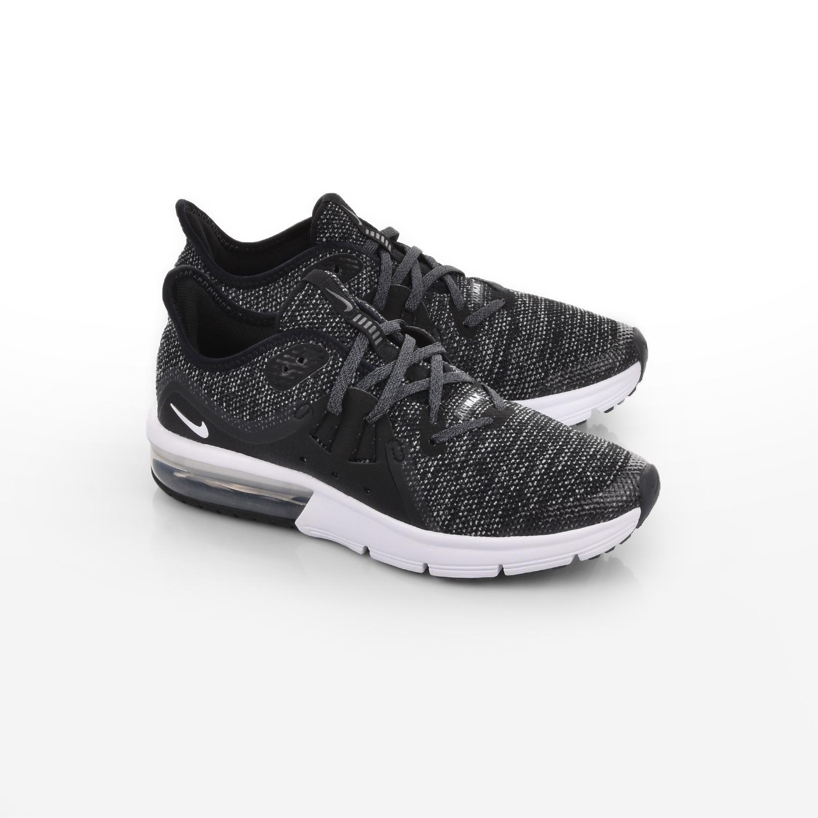 Nike - NIKE AIR MAX SEQUENT 3 (GS) - BLACK WHITE-DARK GREY-PR PLTNM ... cc67722132f