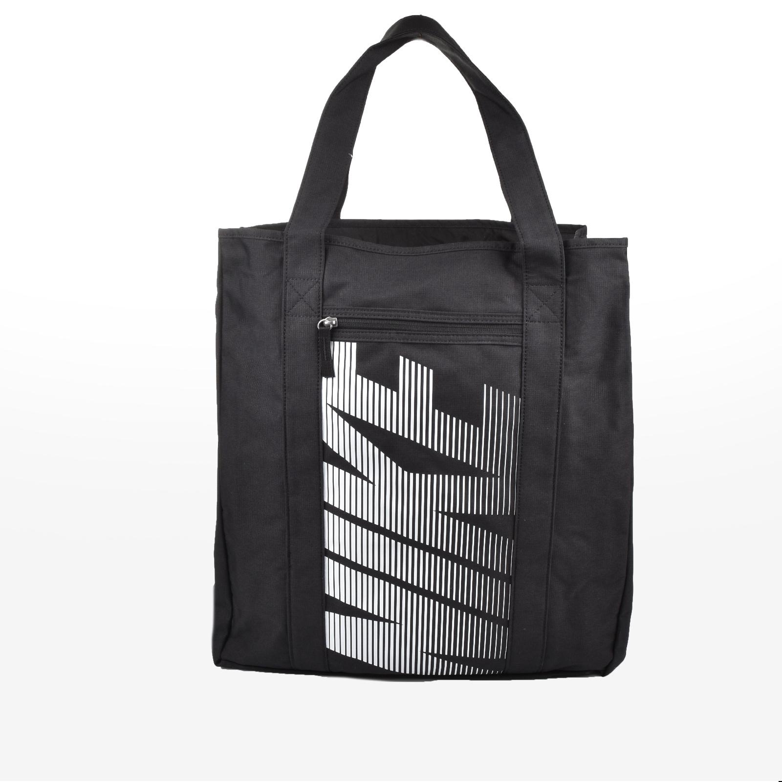 Nike - W NK GYM TOTE - BLACK/BLACK/WHITE