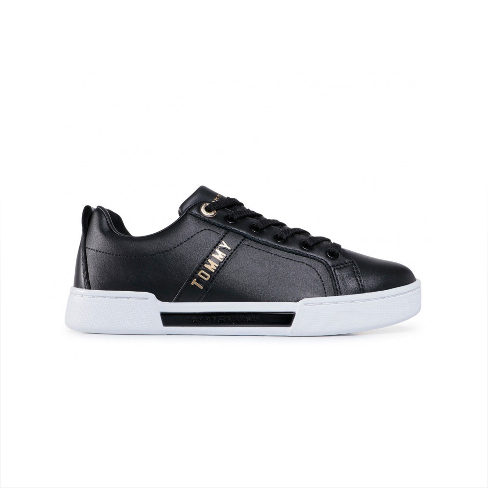 Tommy hilfiger - BRANDED OUTSOLE STRAPPY SNEAKER - BLACK