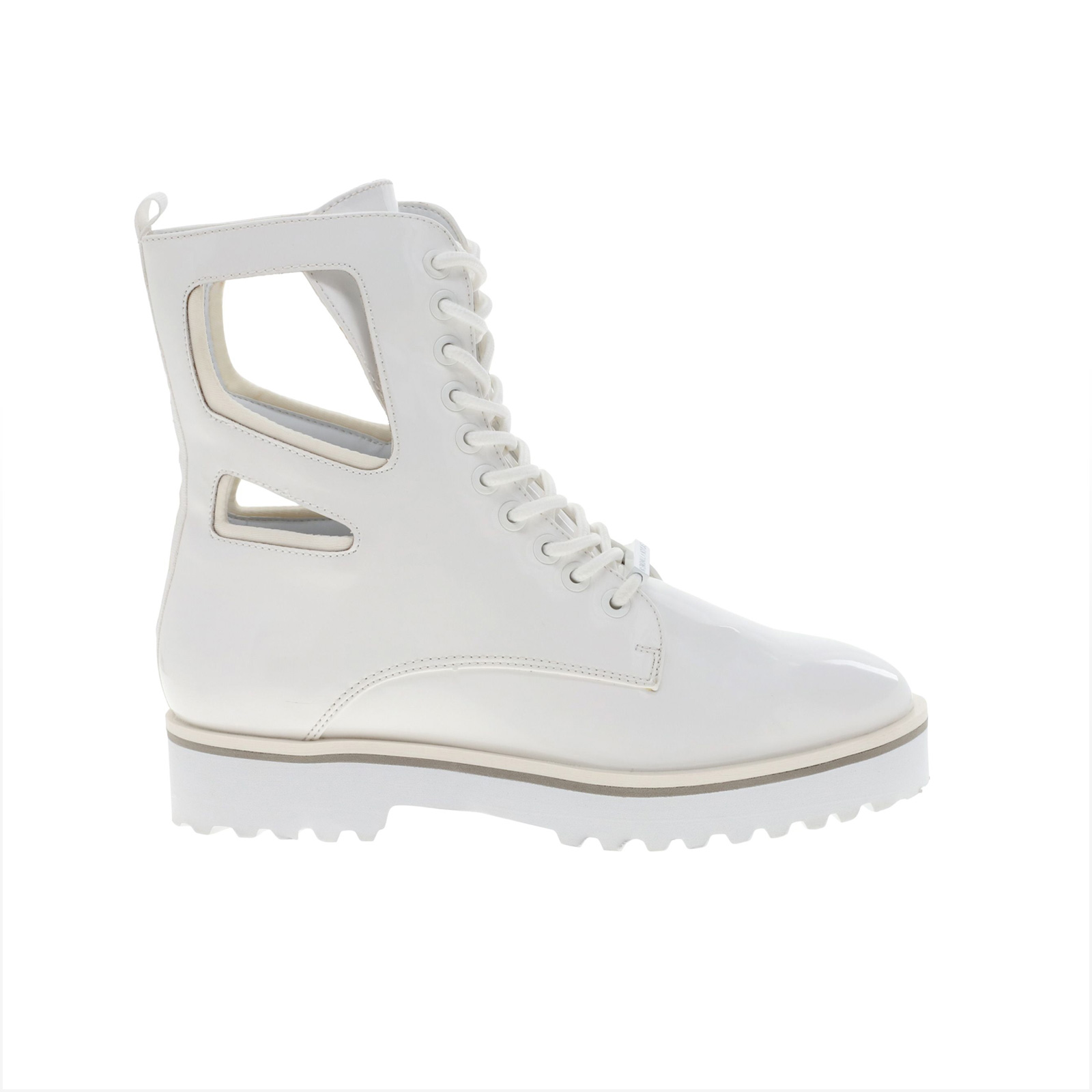 Kendall and Kylie - K&K SHOES KKLANGMORE 74144 WHITE VEGAN PATENT/LYCRA - TYPE