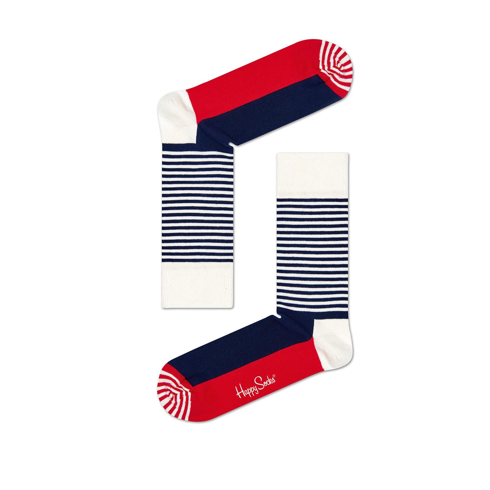 Happy socks - HALF STRIPE SOCKS - MULTICOLOR